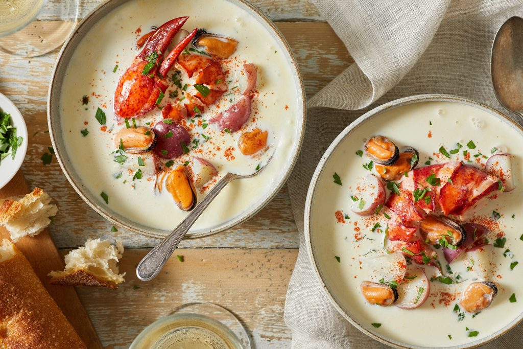 PEI Lobster and Mussel Chowder with Baby Red Potatoes_Stephen Harris