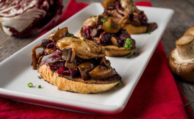 PEI Oyster & Mushroom Toasts