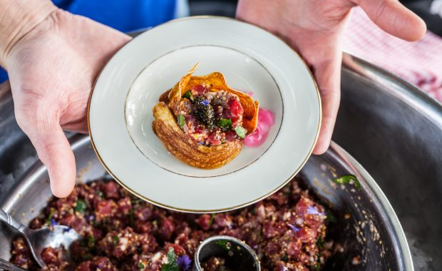 Bluefin Tuna Tartare with Fingerling Potato Chips