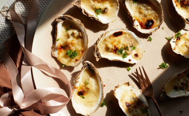 Cheesy Baked Oysters