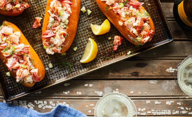 Lobster Roll with Lemon Aioli and Dill