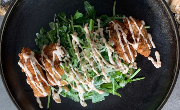 PEI Fried Oyster Salad